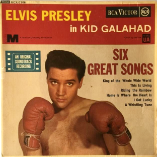 "Elvis Presley With The Jordanaires ‎- Kid Galahad EP (7"") (EX-/G++)"